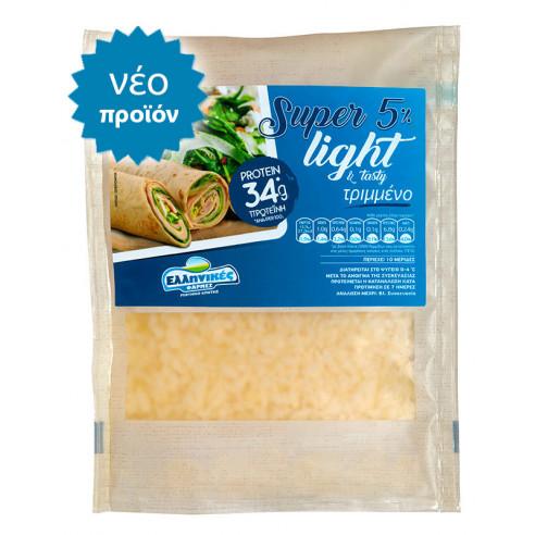 Τριμμένο Super Light με μόνο 5% λιπαρά και εμπλουτισμένο με 34gr πρωτεΐνης Ελληνικές Φάρμες 200gr