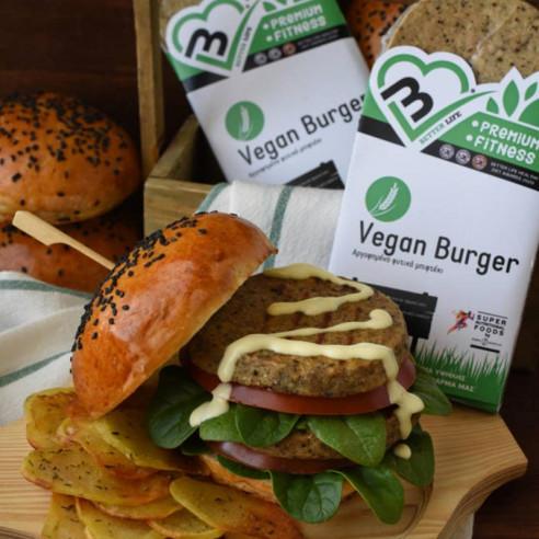 Vegan Burger. Αργοψημένο Fitness...