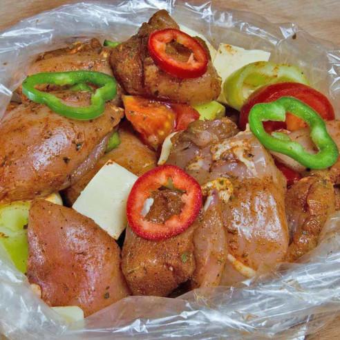 Κλέφτικο κοτόπουλο  σε σακούλα ψησίματος