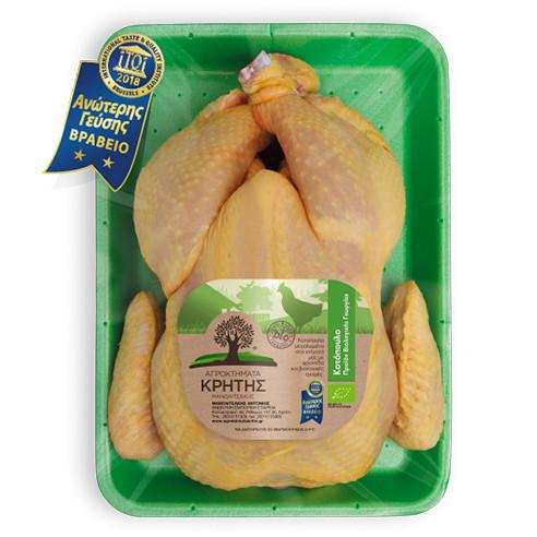 Κοτόπουλο Βιολογικής Εκτροφής Αγροκτήματα Κρήτης (2kg)