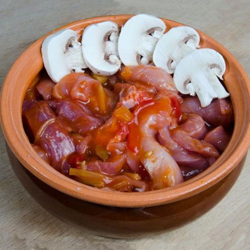Γλυκόξινο χοιρινό με φρούτα του πάθους
